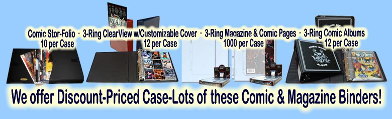 Click here to visit the COMIC & MAGAZINE COLLECTOR SUPPLIES: Boxes, Binders, Pages section of our eBay Store