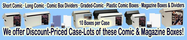 Click here to visit the COMIC &amp; MAGAZINE COLLECTOR SUPPLIES: BOXES-BINDERS-PAGES section of our eBay Store