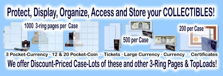 Click here to visit the COLLECTOR SUPPLIES: Ticket-Currency-Certificate section of our eBay Store