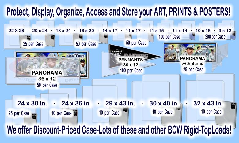 Click here to visit the COLLECTOR SUPPLIES: POSTER-SIZES section of our eBay Store