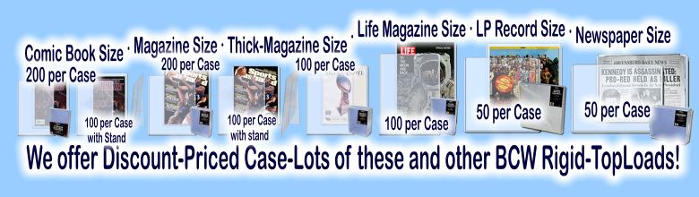 Click here to visit the COMIC & MAGAZINE COLLECTOR SUPPLIES section of our eBay Store